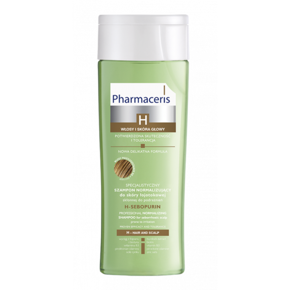 PHARMACERIS H professional normalizing shampoo for seborrhoeic scalp and oily hair H-SEBOPURIN, 250ml