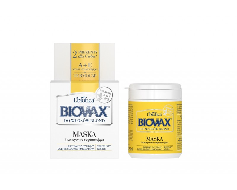 BIOVAX Intensive regeneration hair mask for blond hair, 250 ml