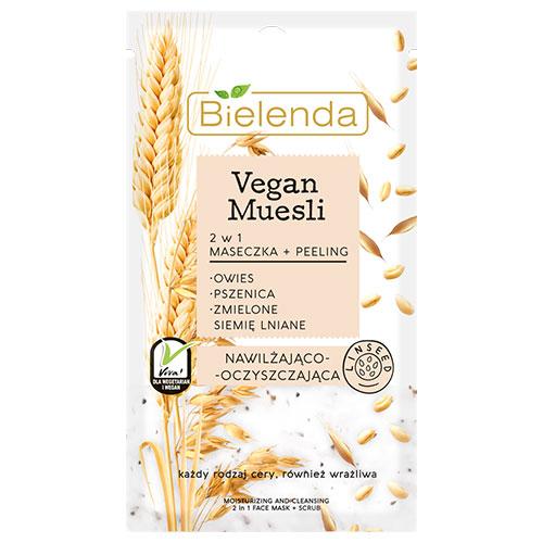 BIELENDA VEGAN MUESLI 2 in 1 moisturizing mask oats + wheat + flax seed 8g