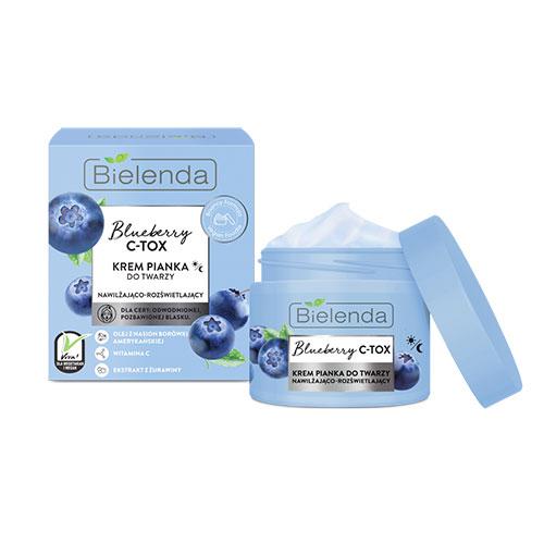 BIELENDA BLUEBERRY C-TOX cream - foam moisturizing and brightening 40