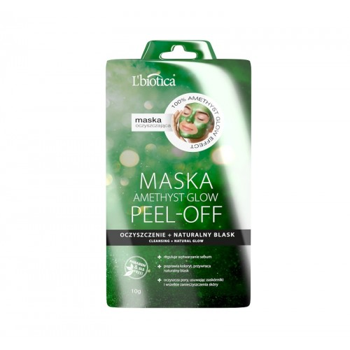 L'BIOTICA Peel-off mask - amethyst glow - cleansing and natural glow, 10g