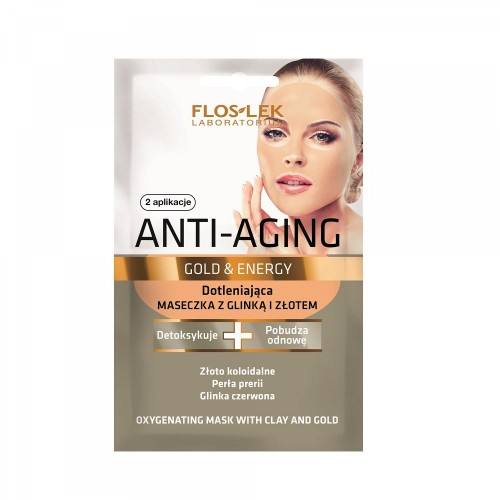 FLOSLEK Rejuvenating mask with gold, 2x5ml