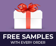 Free sample on all orders