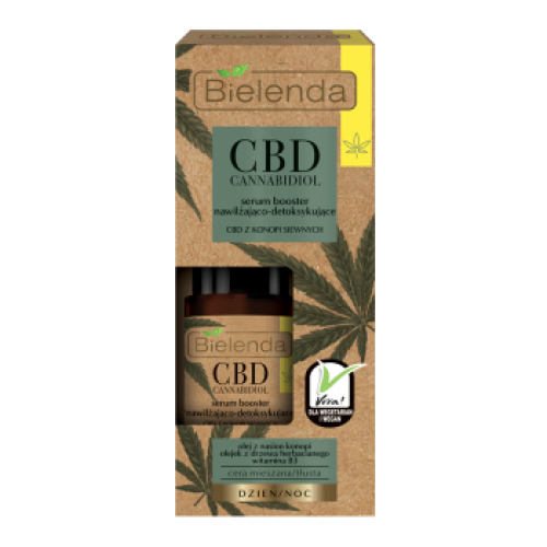 CBD Cannabidiol Moisturizing & detoxifying serum booster with CBD from the cannabis sativa, 15ml