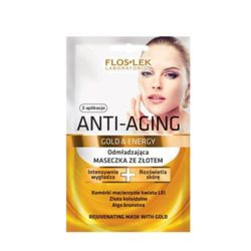 Flos Lek - Anti-Aging Gold & Energy - Rejuvenating MASK with GOLD for mature skin 2x5ml