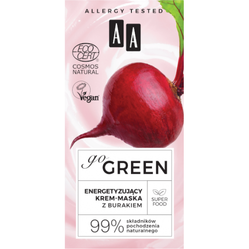 AA GO GREEN Energizing cream-mask WITH BEETROOT NATURAL 50ml