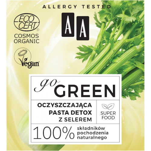 AA GO GREEN Cleansing detox paste WITH ORGANIC SELECTOR 50ml