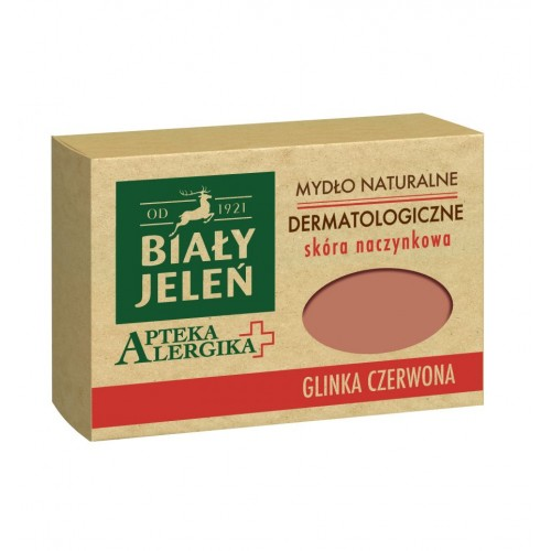 Biały Jeleń dermatological soap with red clay Apteka Alergika 125g