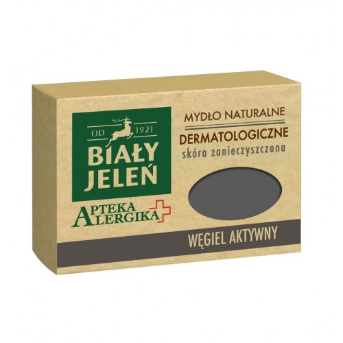 Biały Jeleń dermatological soap with active charcoal Apteka Alergika 125g