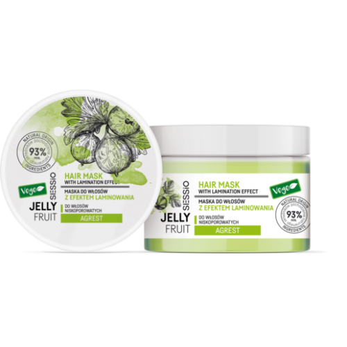Chantal SESSIO JELLY FRUIT – Gooseberry mask for low porosity hair with laminating effect 250 g