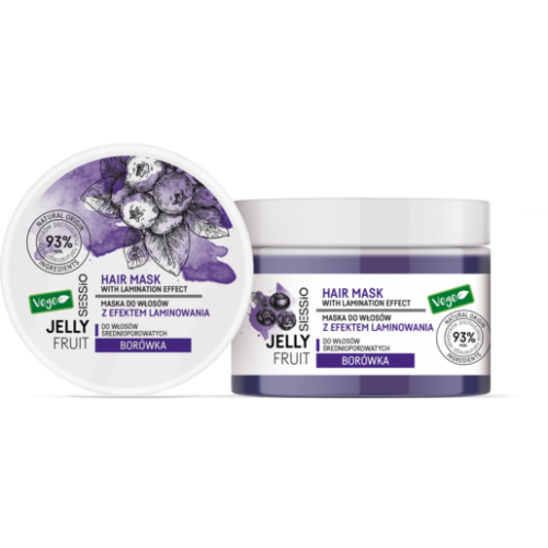 Chantal SESSIO JELLY FRUIT – Blueberry mask for medium porosity hair with laminating effect  250 g