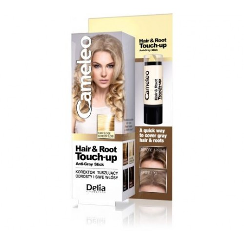 DELIA CAMELEO HAIR & ROOT TOUCH-UP ANTI-GREY CORRECTOR STICK FOR SUNNY BLONDE HAIR