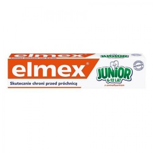 Elmex Junior, toothpaste with aminofluoride, for children 6-12 years old, 75 ml
