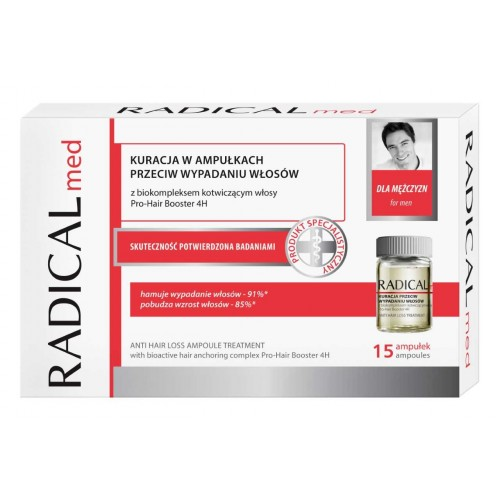 RADICALmed ANTI HAIR LOSS AMPOULE TREATMENT FOR MEN, 15AMPOULES x 5ml