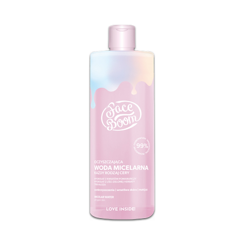 FACE BOOM CLEANSING MICELLAR WATER FOR ALL SKIN TYPES 500 ml