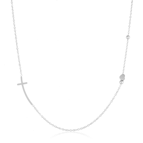 BLUEBERRY STAINLESS STEEL NECKLACE 5081