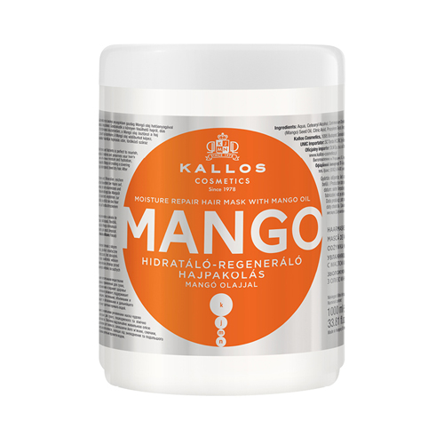 KALLOS MOISTURE REPAIR HAIR MASK WITH MANGO OIL 1000 ml