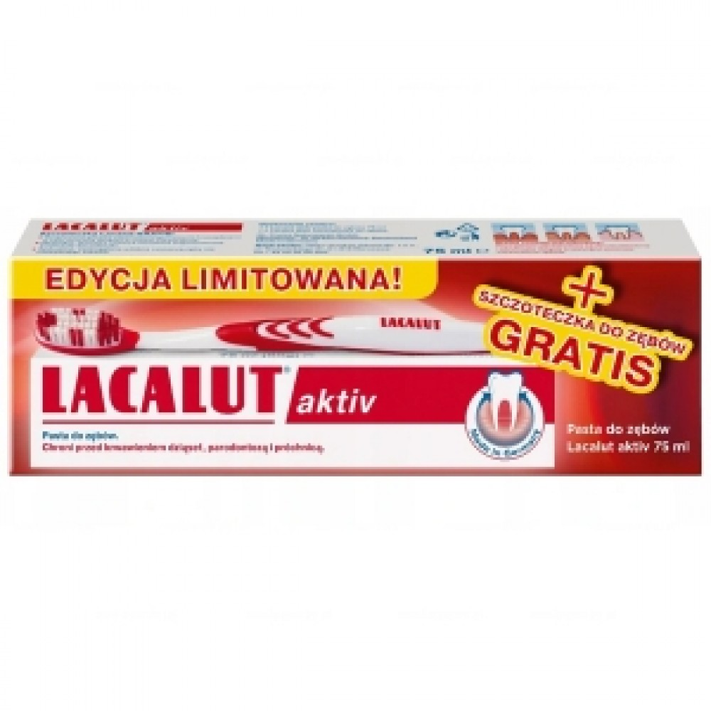 LACALUT ACTIV Toothpaste with delicate toothbrush, 75 ml
