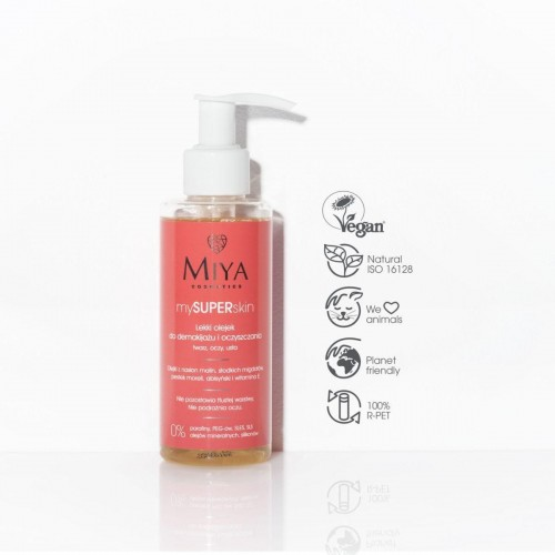 Miya cosmetics Light oil for removing makeup and cleansing the face, eyes and mouth 140ml