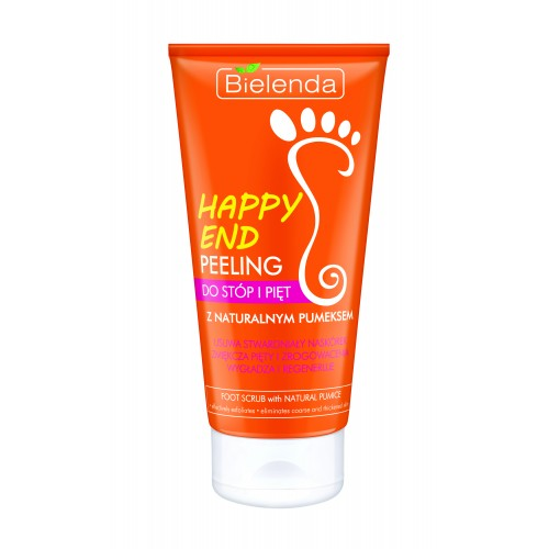 HAPPY END Foot and Heel Scrub with Natural Pumice Stone, 125ml
