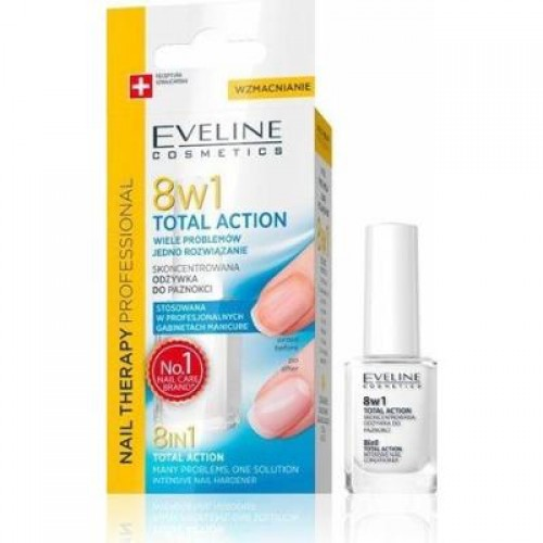 NAIL THERAPY 8 IN 1 TOTAL ACTION INTENSIVE NAIL CONDITIONER TOTAL ACTION, 12ml