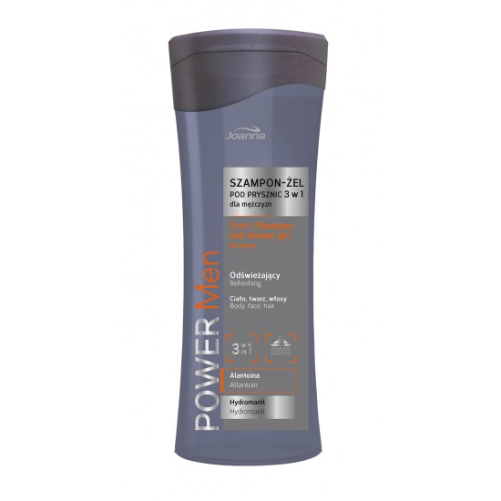 POWER MEN SHAMPOO AND SHOWER GEL 3 IN 1, 300ml