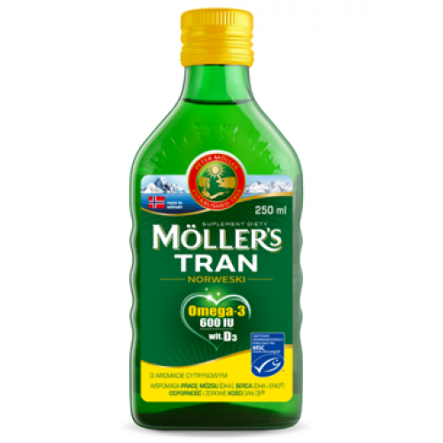 MOLLERS NORWEGIAN COD-LIVER OIL LEMON 250ML
