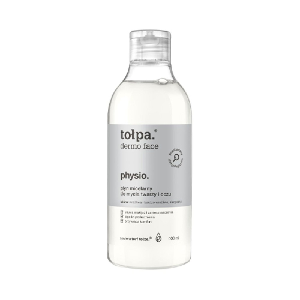 tołpa, dermo face physio, micellar liquid for washing the face and eyes, 400 ml