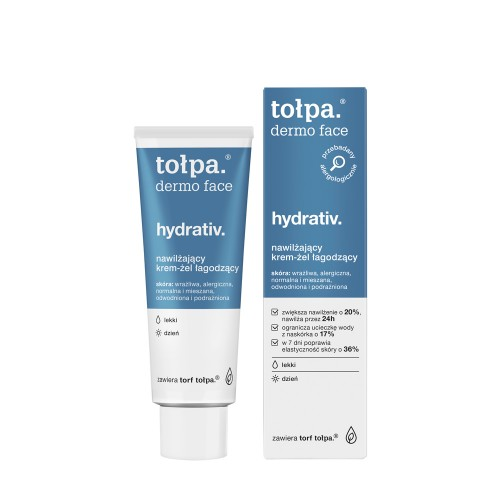 TOLPA dermo face HYDRATIV - moisturizing soothing cream-gel for sensitive, dehydrated and irritated skin, 40ml